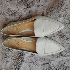 Vince Camuto White Pointy Toe Maita Loafers